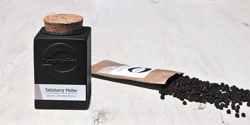 Tellicherry Pfeffer schwarzer Pfeffer