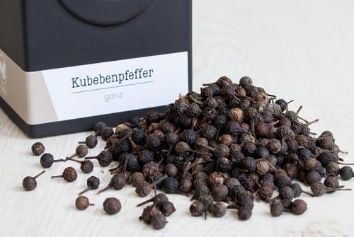 Kubebenpfeffer, Stielpfeffer, Schwanzpfeffer Jawanischer Pfeffer.
