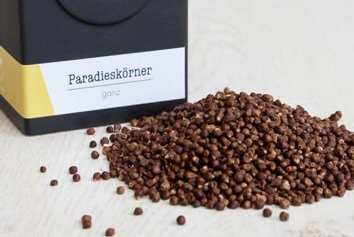 Paradieskörner heißt auch Meleguetapfeffer oder Guineapfeffer .
