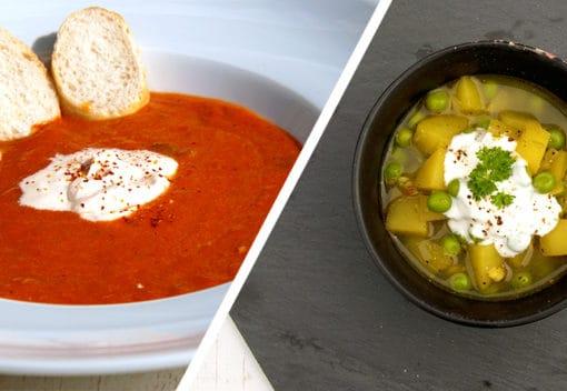 Suppenrezepte und Gewürze