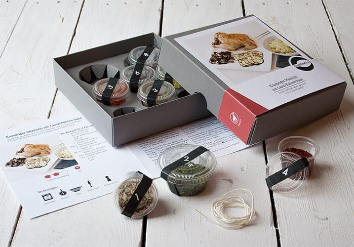 Gewürzbox für ein Ofenhuhn