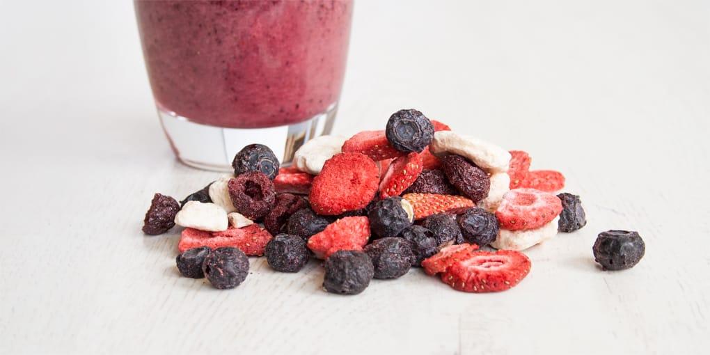 Smoothie Mischung aus gefriergetrockneten Früchten