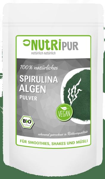 spirulina alge bio pulver protein powder nutripur. Black Bedroom Furniture Sets. Home Design Ideas