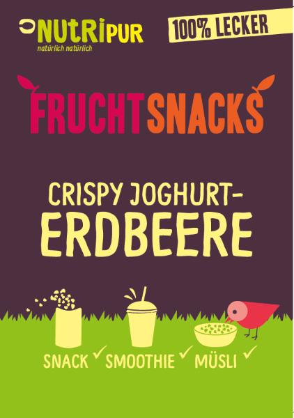 Knusprige Erdbeere-Joghurt-Stücke